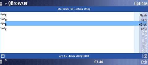 Обзор программы QBrowser (S60 3rd)